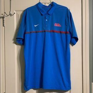 Nike Dri-Fit Ole Miss Rebels SEC NCAA Polo Shirt